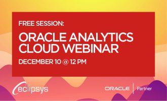 Oracle Analytics Cloud Webinar
